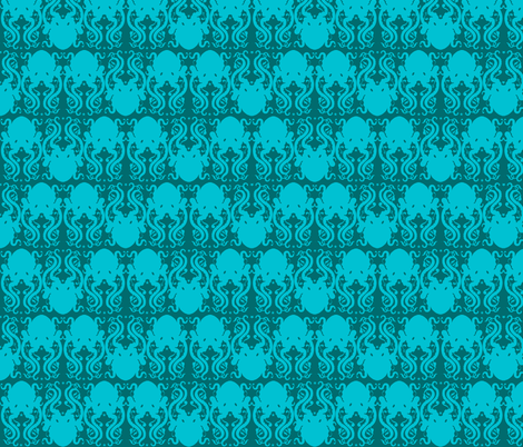 Octopus Blue fabric by jadegordon on Spoonflower - custom fabric