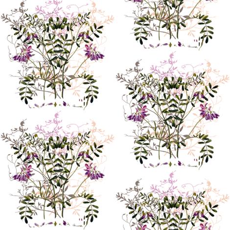 little crown legume fabric by saltlabs on Spoonflower - custom fabric