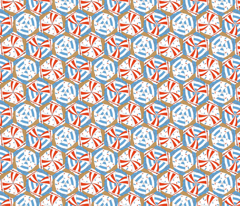 sailing boats tessellation fabric by annosch on Spoonflower - custom fabric