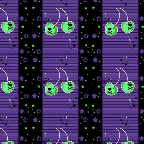 Bad Cherry Night Stars! - © PinkSodaPop 4ComputerHeaven.com  fabric by pinksodapop on Spoonflower - custom fabric