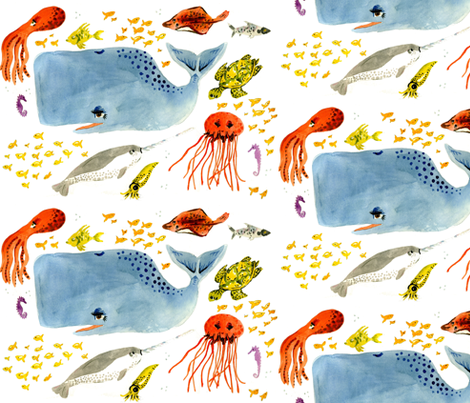 Underwater Friends fabric by taraput on Spoonflower - custom fabric