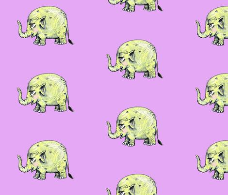 Baby Elephant fabric by taraput on Spoonflower - custom fabric