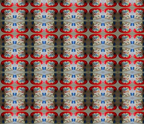 Old Toy Phone fabric by cheekadee on Spoonflower - custom fabric