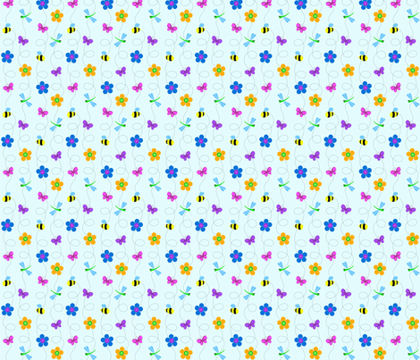 Bugs and Flowers fabric by adeliagreen on Spoonflower - custom fabric