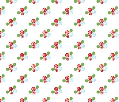 Button Flowers fabric by mayabella on Spoonflower - custom fabric