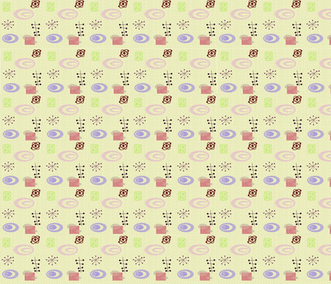 Atomic Dream in Cream fabric by squarejane on Spoonflower - custom fabric