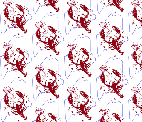Maine_lobster_party fabric by hbmamma on Spoonflower - custom fabric