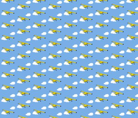 Grandpa's Yellow Airplane fabric by winter on Spoonflower - custom fabric