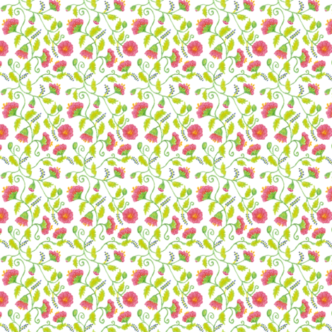 mini_floral_150_dpi fabric by victorialasher on Spoonflower - custom fabric