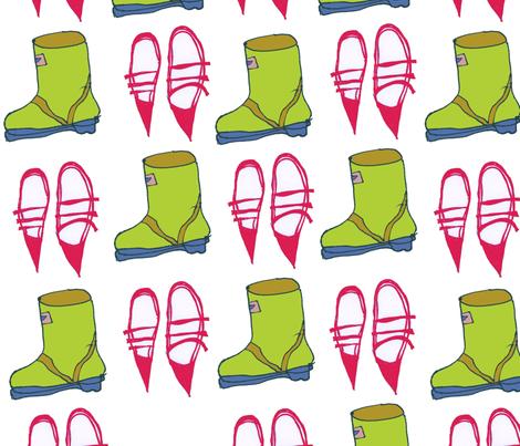 bootnshoes-ed fabric by zazandmo on Spoonflower - custom fabric