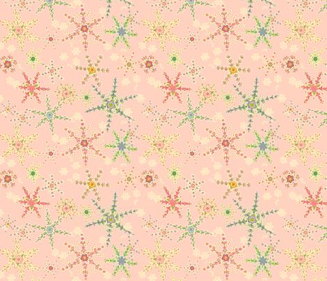 Snowflower Pink  fabric by juliamonroe on Spoonflower - custom fabric