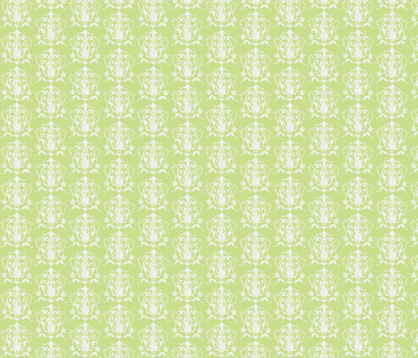Golden Lime Guitar Damask fabric by dorolimited on Spoonflower - custom fabric