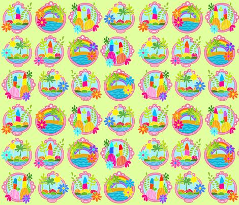 Green Seascape fabric by carinaenvoldsenharris on Spoonflower - custom fabric