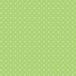 Small checkered faces green