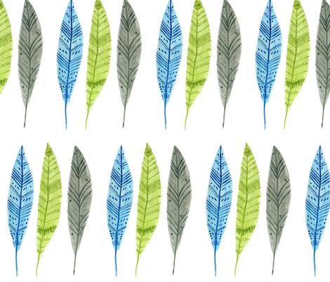 Feathers fabric by taraput on Spoonflower - custom fabric
