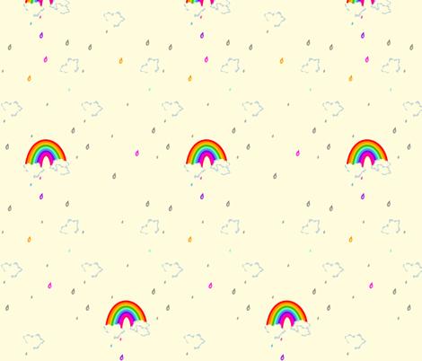 Taste the Rainbow Colored Rain! - © PinkSodaPop 4ComputerHeaven.com fabric by pinksodapop on Spoonflower - custom fabric