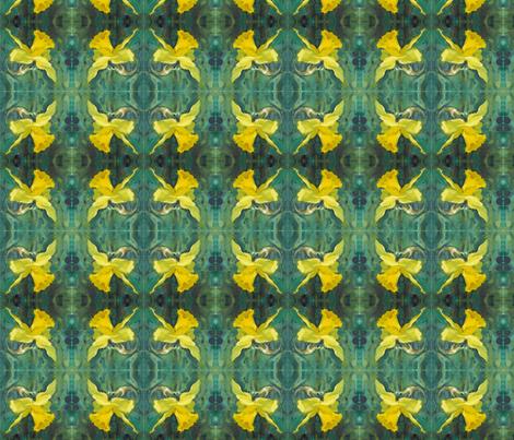 daffodil-oil-pochade-chris-carter-artist-040510b fabric by chris_carter on Spoonflower - custom fabric