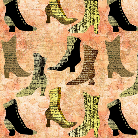 boots entry fabric by vo_aka_virginiao on Spoonflower - custom fabric