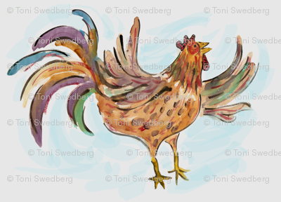 Water Color Rooster