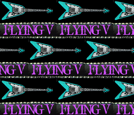 FLYING V  fabric by paragonstudios on Spoonflower - custom fabric