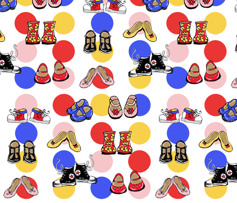 LITTLE_SHOES fabric by jambochameleon on Spoonflower - custom fabric
