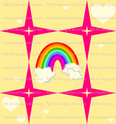 Your Superstar Heart - Chance of Rainbows! - © PinkSodaPop 4ComputerHeaven.com