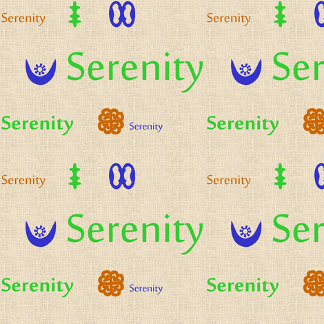 Serenity Fabric-186 fabric by kkitwana on Spoonflower - custom fabric