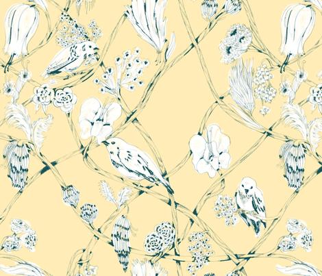 Anne - Cream fabric by gantpants on Spoonflower - custom fabric