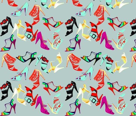 Fun shoes_grey fabric by gigimoll on Spoonflower - custom fabric