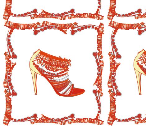 Red shoe frame fabric by gigimoll on Spoonflower - custom fabric