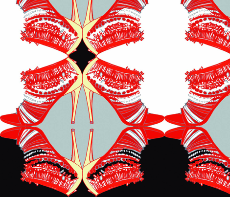 Red_sexy shoe fabric by gigimoll on Spoonflower - custom fabric