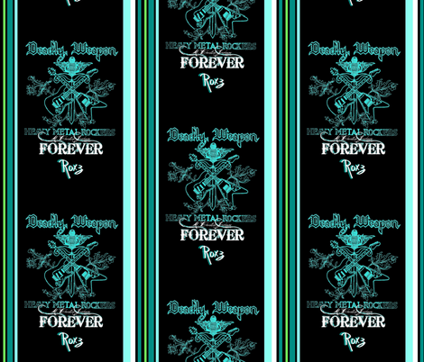 FOREVER ROXZ #2 fabric by paragonstudios on Spoonflower - custom fabric