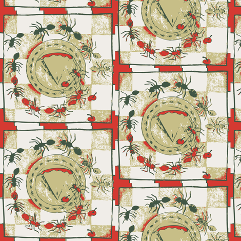 ants fabric by kapugi on Spoonflower - custom fabric