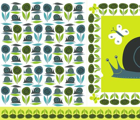 snail_pillow fabric by antoniamanda on Spoonflower - custom fabric