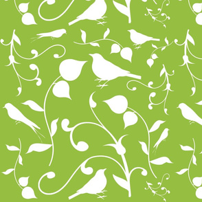 Swirly Bird Large Print Olive