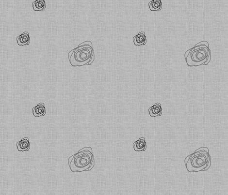 FUNKY FLOWERS COMP-Gray-191 fabric by kkitwana on Spoonflower - custom fabric