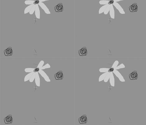 FUNKY FLOWERS STREAM-195 fabric by kkitwana on Spoonflower - custom fabric