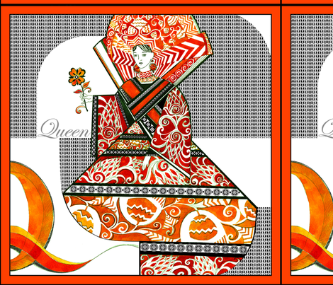 queen1 fabric by olganikich on Spoonflower - custom fabric