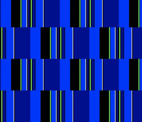 RocZ BLUE Brick/Stripe fabric by paragonstudios on Spoonflower - custom fabric