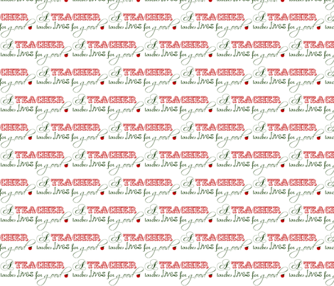 Teachers touch lives fabric by winter on Spoonflower - custom fabric