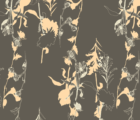 Jena in Gray fabric by wolfie_and_the_sneak on Spoonflower - custom fabric