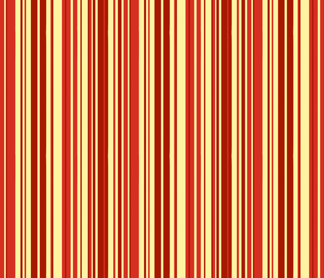 SCK Damask Red Cream Stripe fabric by stacyck on Spoonflower - custom fabric