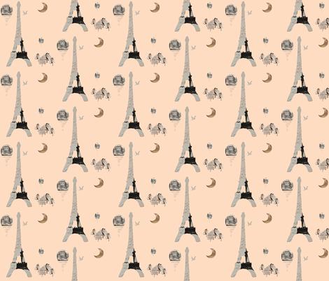 Paris Peach  fabric by karenharveycox on Spoonflower - custom fabric