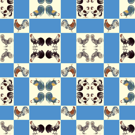 RoostersFabric2_copy-ch fabric by snazzyfrogs on Spoonflower - custom fabric