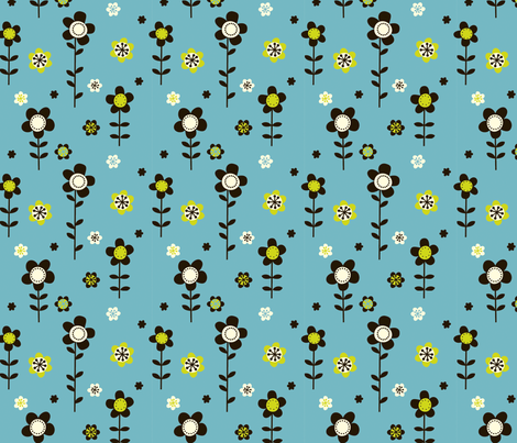 ditsy blue fabric by fhiona on Spoonflower - custom fabric
