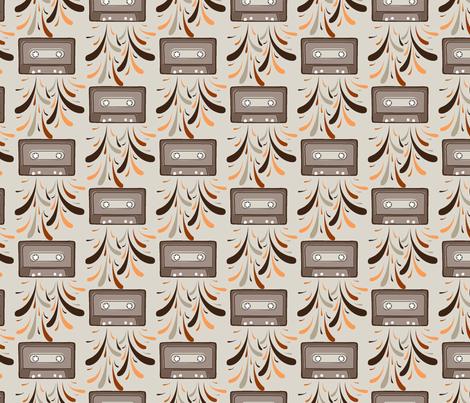 Cassette Explosion Retro fabric by daniellerenee on Spoonflower - custom fabric