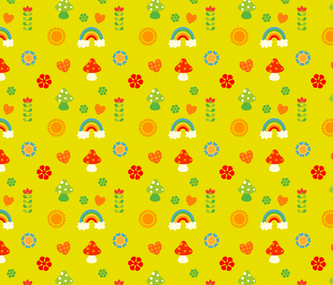 happy woods fabric by fhiona on Spoonflower - custom fabric