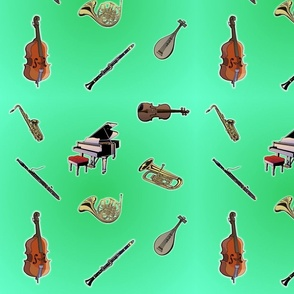 Orchestra in Green