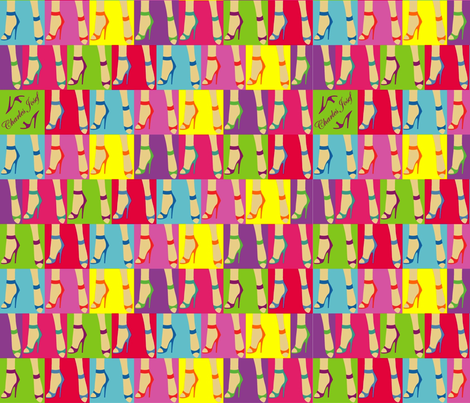 just shoes fabric by the_design_house on Spoonflower - custom fabric
