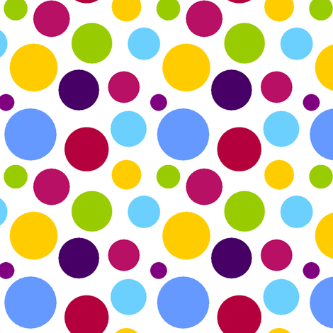 Circus Dots Round 3 fabric by mandollyn on Spoonflower - custom fabric